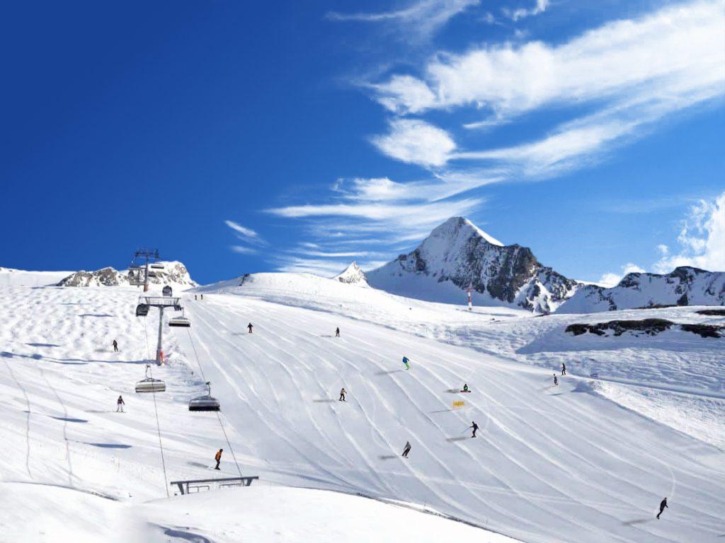 piste de ski après retouche