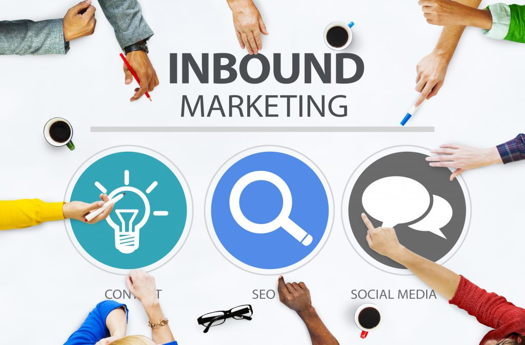 Inbound,Marketing,Commerce,Content,Social,Media,Concept