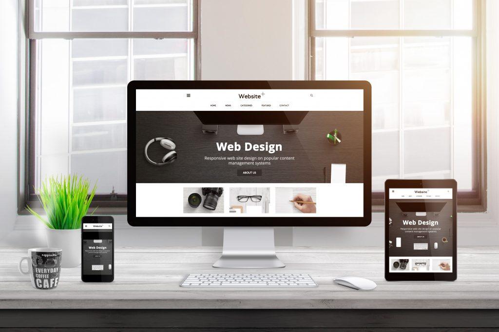 Modern,Responsive,Flat,Web,Site,Design,Presentation,On,Computer,,Tablet