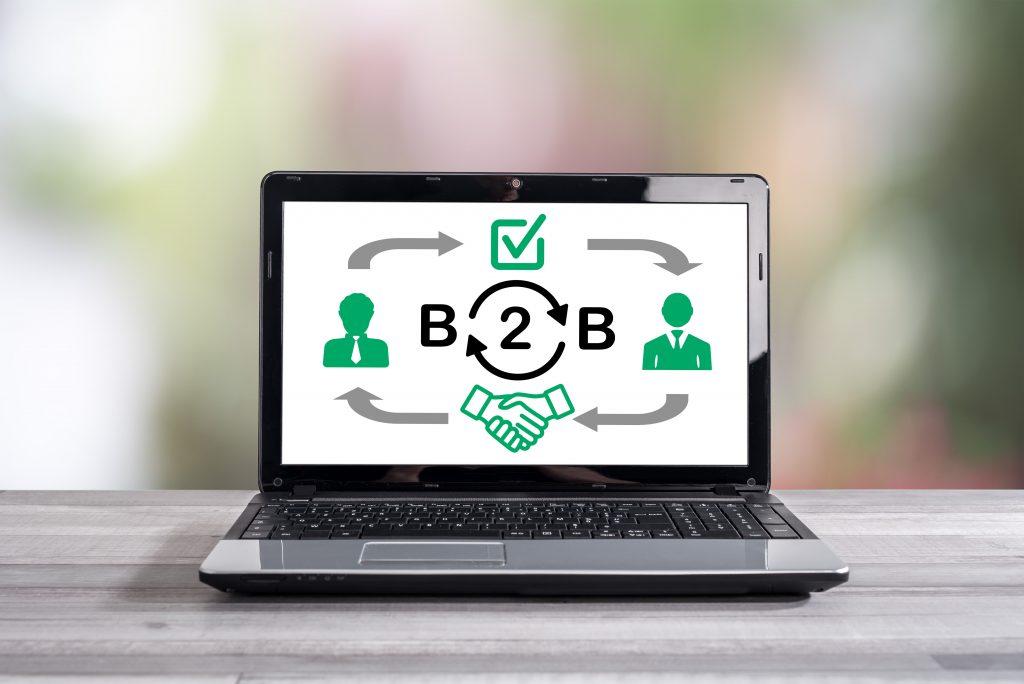 B2b,Concept,Shown,On,A,Laptop,Screen